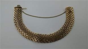 Vintage 14k Gold Mesh Style Bracelet