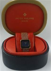 Vintage 18k Gold Square Patek Philippe Watch