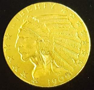 1902 $5 Dollar Gold Indian Head Coin