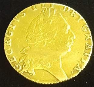 1793 Great Britain England George III Gold Guinea