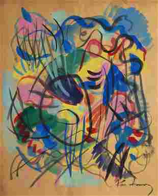 Attributed to WASSILY KANDINSKY Russian, 1866-1944