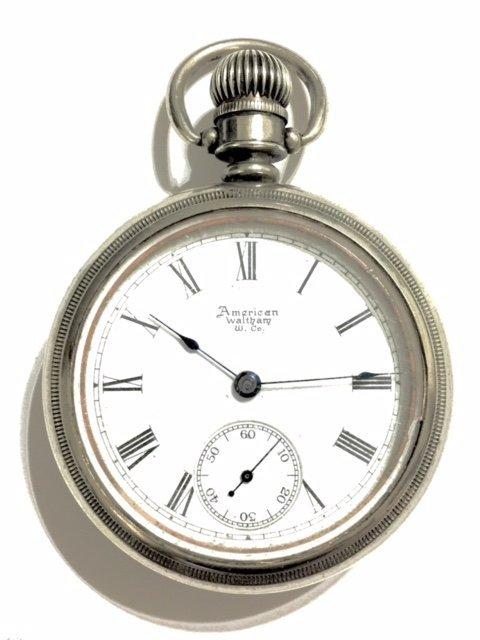 1889 AMERICAN WALTHAM Open Face Pocket Watch