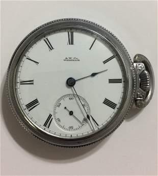 1870 AMERICAN WALTHAM Nickel Silver Pocket Watch