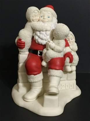 LG. Retired DEPT 56 Porcelain SANTA CLAUS Figurine