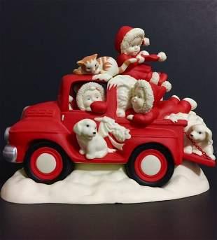 LG. Retired DEPT 56 SNOWBABIES Porcelain Figurine