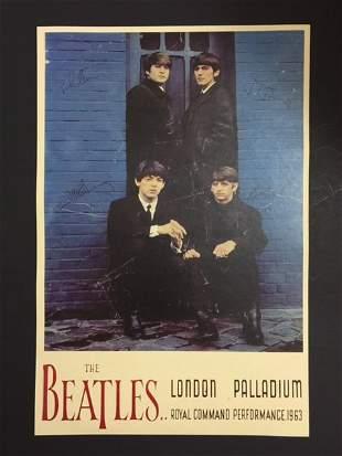 1963 The BEATLES London Palladium Concert Poster