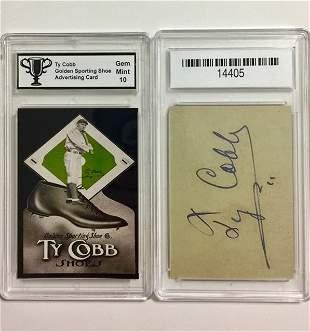 Gem Mint 10 - TY COBB Advertising Baseball Card