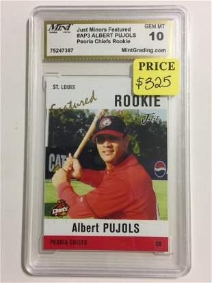 ALBERT PUJOLS Minor League Rookie Baseball Card