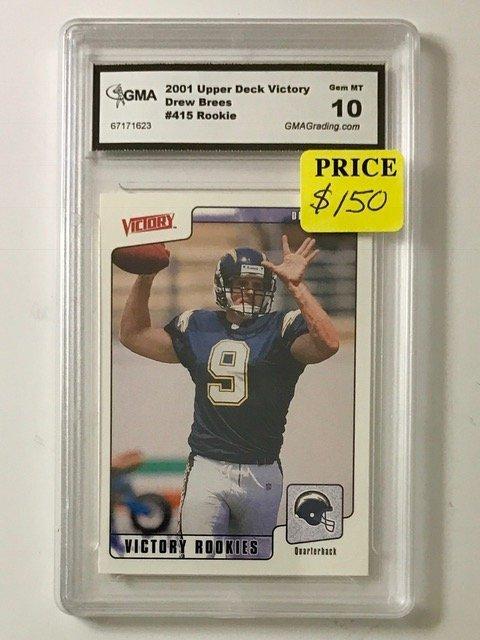 Gem Mint 10 DREW BREES Rookie Football Card