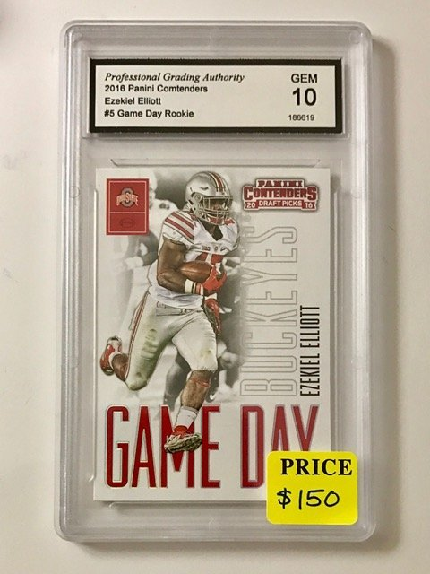 Gem Mint 10 EZEKIEL ELLIOTT Rookie Football Card