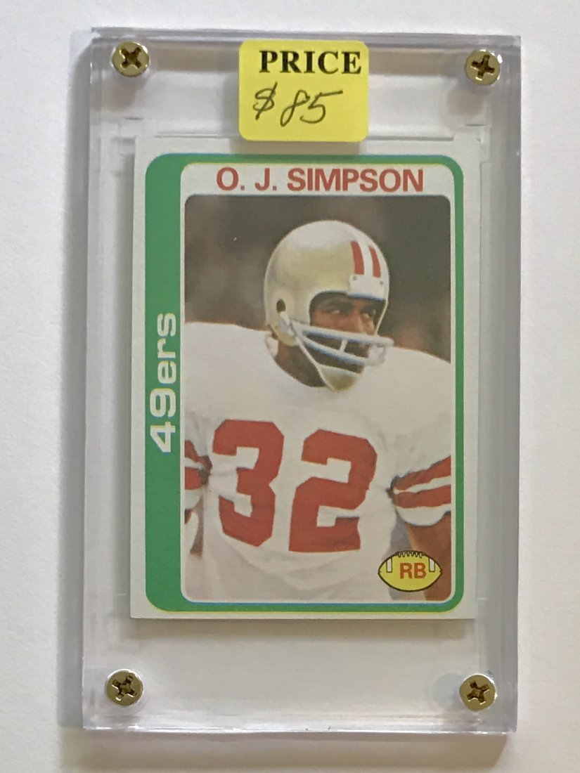 Slabbed Near Mint+ 1977 O.J. SIMPSON Football Card