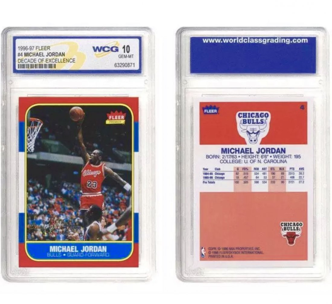 Graded Gem 10 MICHAEL JORDAN Rookie BasketballCard