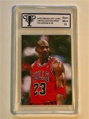 VERY RARE Brush Art MICHAEL JORDAN Basketball Card