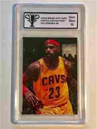 VERY RARE Brush Art LEBRON JAMES Basketball Card