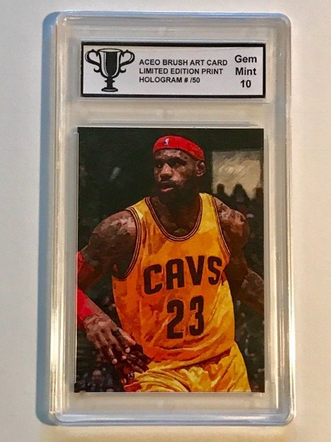 VERY RARE Brush Art LEBRON JAMES Basketball Card