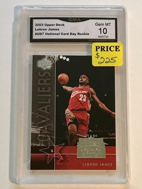 Gem Mint 10 LEBRON JAMES Rookie Basketball Card