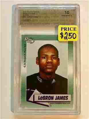 Gem 10 LEBRON JAMES Pre-NBA Rookie Basketball Card