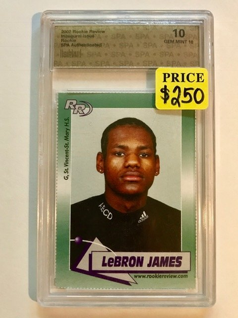 Gem 10 LEBRON JAMES Pre-NBA Rookie Basketball Card