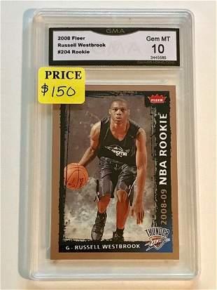 Gem 10 RUSSELL WESTBROOK Rookie Basketball Card