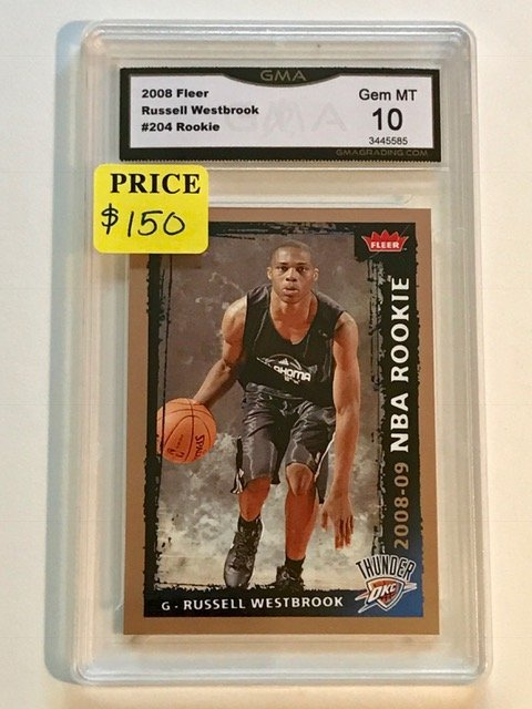 Gem 10 RUSSELL WESTBROOK Rookie Basketball Card