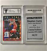 Scarce STEPHEN CURRY Custom Prism Basketball Card