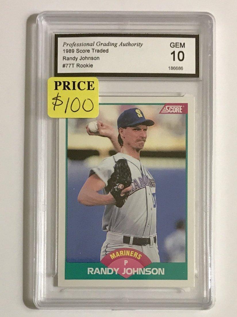 RANDY JOHNSON 89 Score Traded Rookie Baseball Card