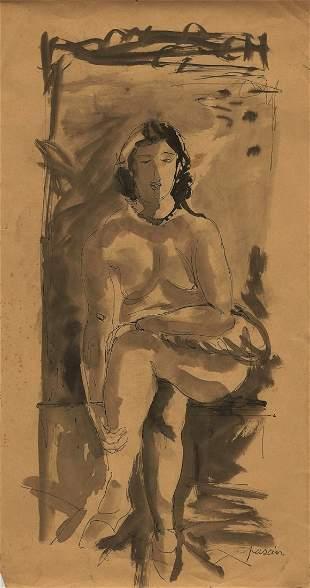 Attributed to: JULES PASCIN (Bulgarian, 1885-1930)