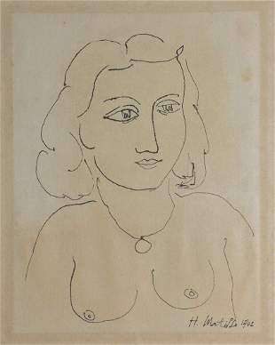 Attributed to: HENRI MATISSE (French, 1869-1954)