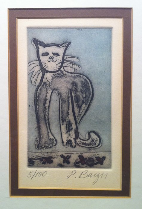 Peter Barger (American, 20th C.) - Etching - Cat