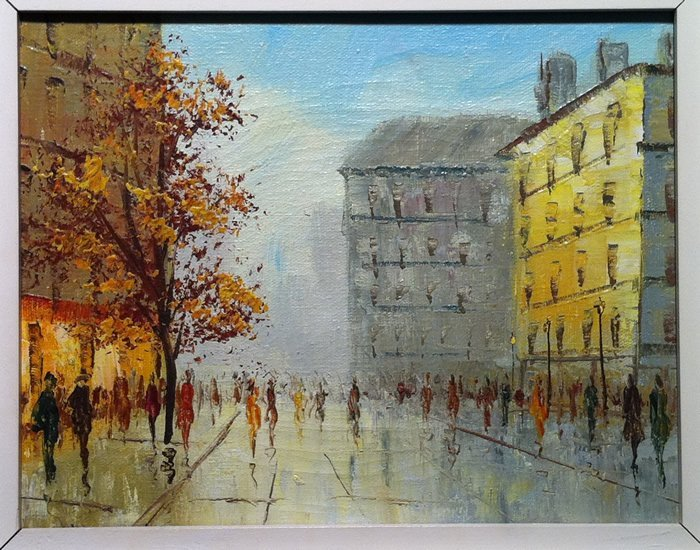 Artist (Unknown, 20th C.) - Painting - Cityscape