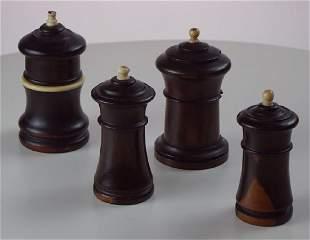 4 Treen 19th Century Lignum Vitae Go to Bed.