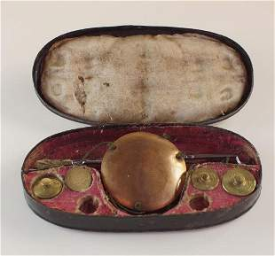 Set of antique Tin Boxed Gold scales