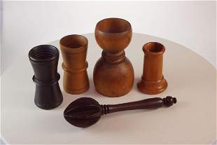 Treen boxwood double ended Measuring cup