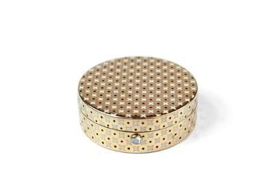 Cartier Circular Gold & Enamel Box