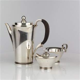 Georg Jensen Pyramid Sterling Silver coffee Set