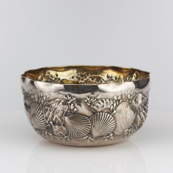 Whiting American Silver Shell Bowl c1884