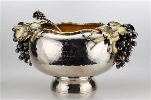 Gorham Silver Punch Bowl and Ladle