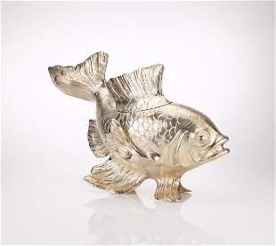 Italian Silver Fish Centrepiece Signed Buccellati