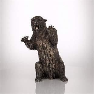 Italian Silver Model of a Bear, Signed Buccellati