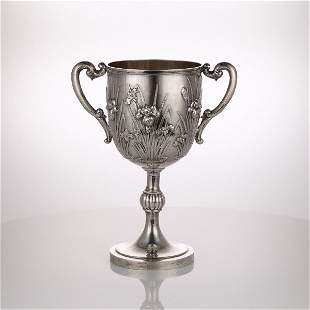 Chinese Export Silver Two Handled Cup