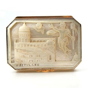 Gold Mounted Mother of Pearl Snuff Box C1790