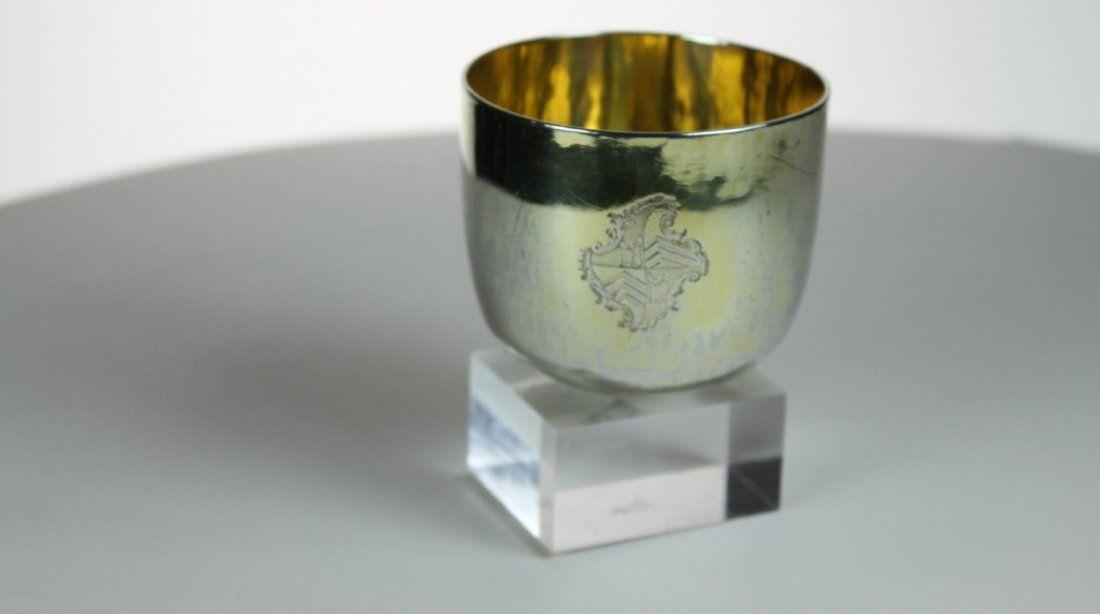 Queen Anne silver gilt tumbler
