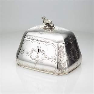 Austrian Silver Sugar Box C 1880