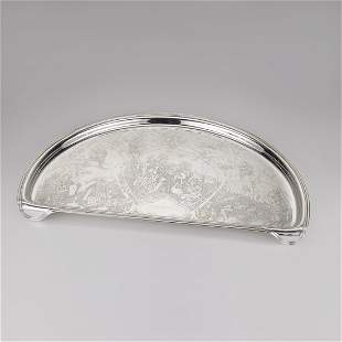 Kerr Sterling Silver Mother Goose Highchair Tray