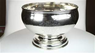 George III silver punch bowl