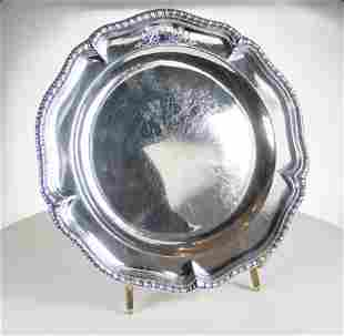 Fine pair of silver George III second course dishes