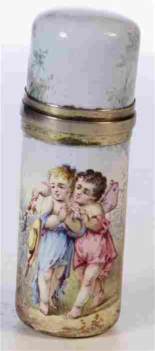 A French Enamel Scent Bottle