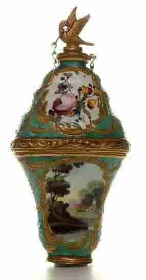 A South Staffordshire enamel perfume Bonbonnaire