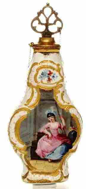 A Staffordshire enamel Scent Bottle