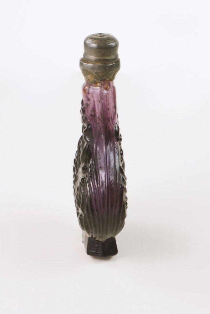 Amethyst Glass Mold Blown Scent Bottle - 2